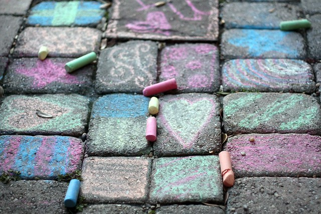 patio chalk