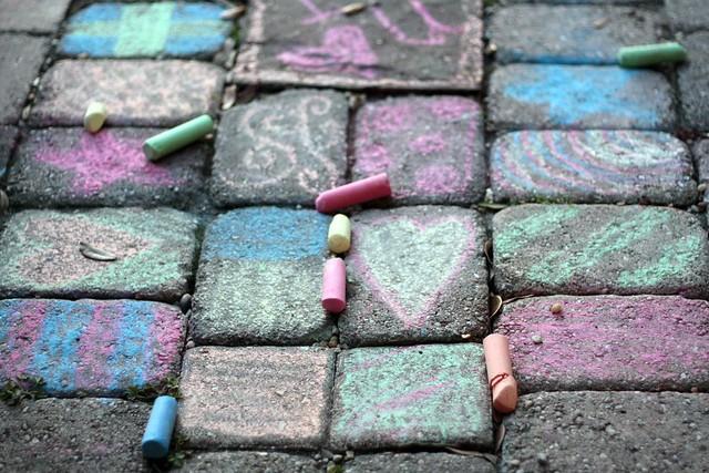 patio chalk