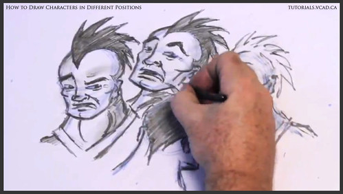 learn how to draw characters in different positions 031