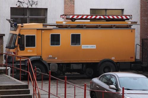 'Üzemzavar Elhárítás' truck for the Budapest tramways