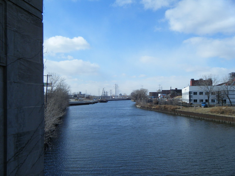 South Branch of the Chicago River from the Halsted St Bridge