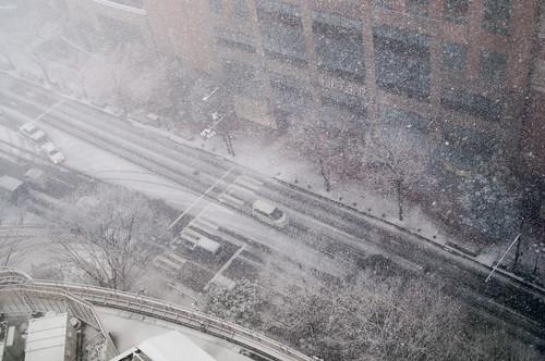 ANAホテルからの雪景色