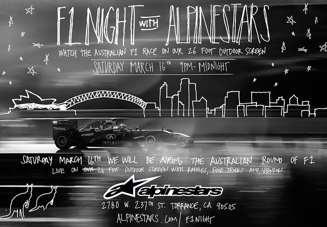 8516765112 9425bae1a0 z F1 Night with K1 Speed & Alpinestars!