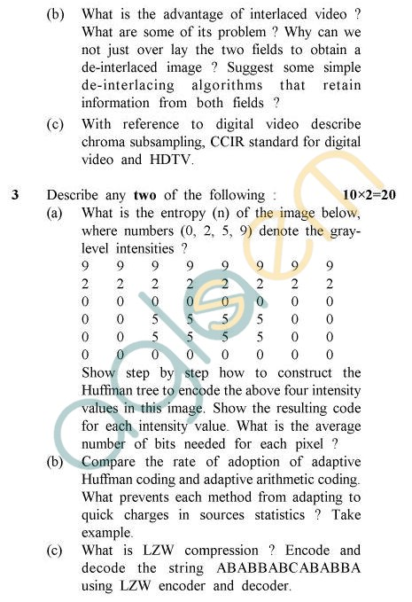 UPTU B.Tech Question Papers - CS-044 - Multimedia Systems