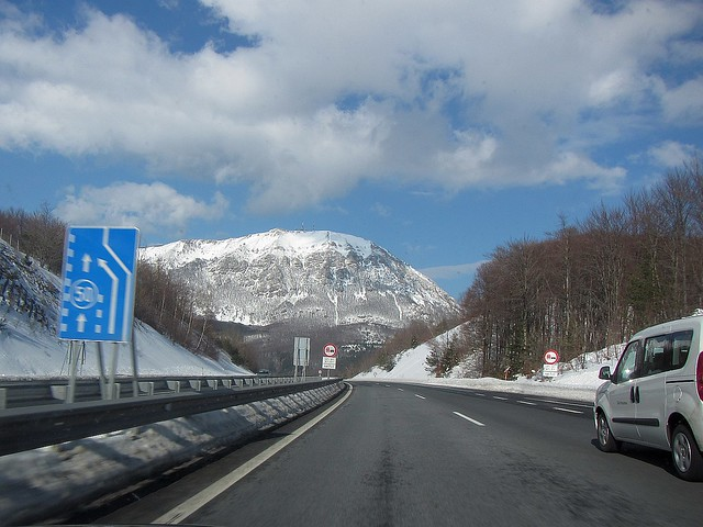 And nice winter drive almost all the way back to Ljubljana...