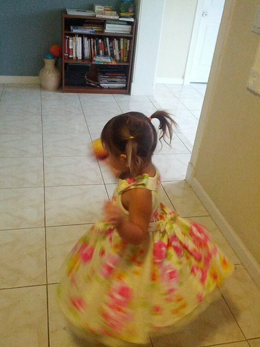 twirling spring dress