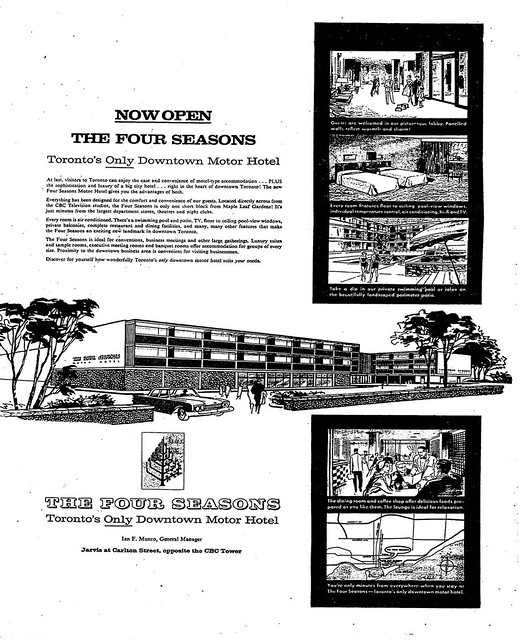 Vintage Ad #2,201: Toronto's Only Downtown Motor Hotel
