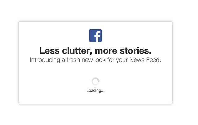 Loading the New Facebook Newsfeed