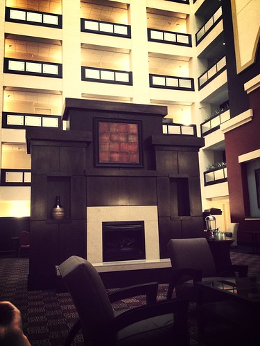 Hilton Garden Inn waiting for my SXSW mentoring session to start. Nice space!