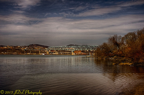 river bridges hdr monaca