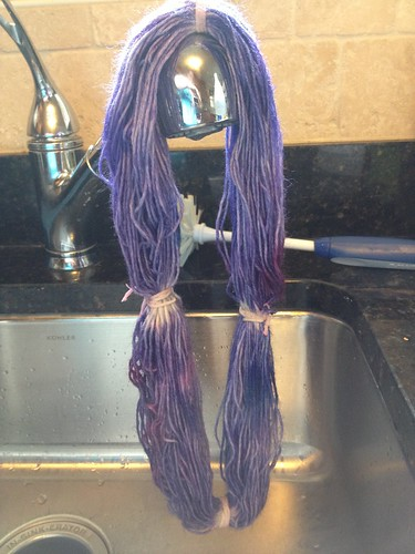 First time hand dyeing yarn