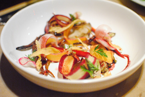 Carrot Salad – Sunchokes – Radishes – Pickled Turnips – Black Carrot Syrup