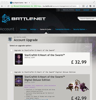 Buying Starcraft 2: Heart of the Swarm
