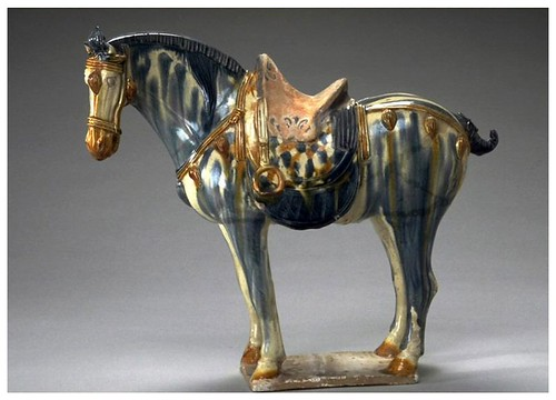 016-Caballo con brida-Dinastia Tang (618-906)-China-Copyright © 2011 Asian Art Museum