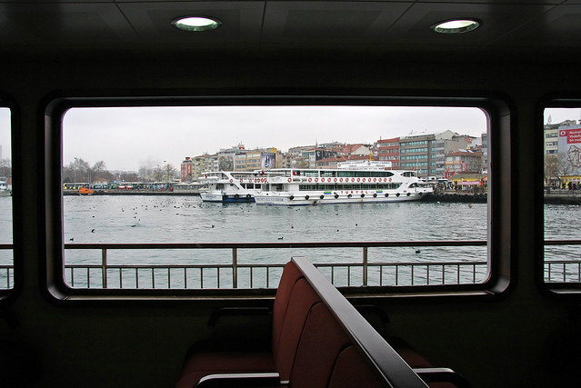 Kadikoy city view from the ferryboat, Iatanbul, Turkey フェリーから見たカドゥキョイの町並み