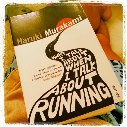 今日由凌晨4點醒咗,又嘔又瀉,唔可以跑唯有睇書。村上春樹關於馬拉松的書,睇完好有共鳴