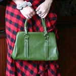 vintage green bag from tag sale in Oceanside