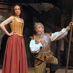 Arvada Center Man of La Mancha L-R Jennifer DeDominici (Aldonza) William Michals (Don Quixote) Photo P. Switzer 2013 -