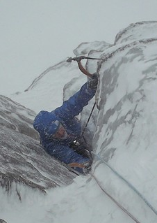Lee at P1 of The Message, Coire an t-Sneachda