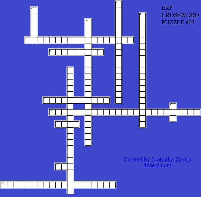 crossword puzzle # 02 on ERP Glossary