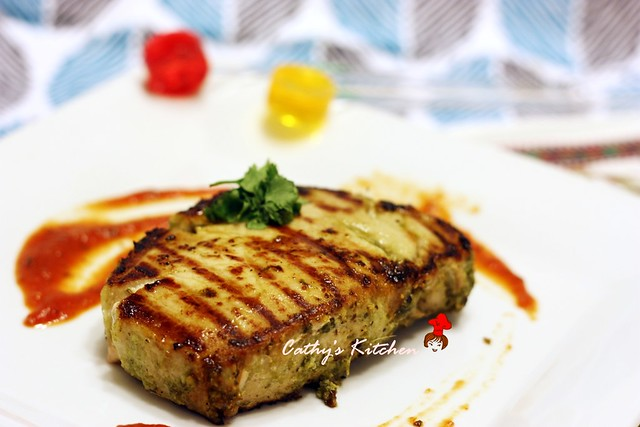 碳烤澄汁香菜豬排 Grilled Pork Chop with Cilantro 8