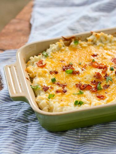 Twice Baked Cauliflower | Dainty Chef