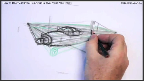 learn how to draw a cartoon airplane in two point perspective 018