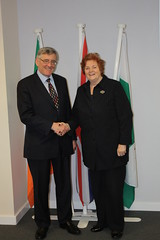 The Presiding Officer meets the Irish Ambassador to the UK His Excellency Mr Bobby McDonagh 21 March 2013 / Y Llywydd yn cwrdd â'i Ardderchogrwydd Mr Bobby McDonagh, Llysgennad Iwerddon i'r DU 21 Mawrth 2013