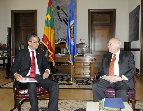 OAS Secretary General Received the Foreign Minister of Grenada