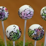 Flowery Watercolor Cake Pops