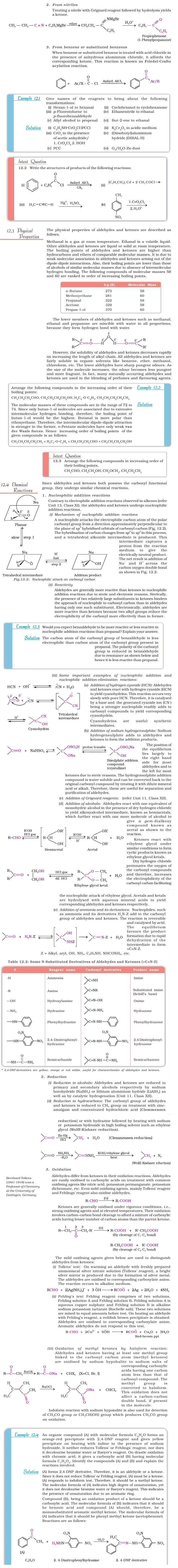 NCERT Class XII Chemistry Chapter 12 - Aldehydes, Ketones and Carboxylic Acids