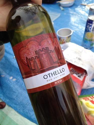 othelloというキプロスワイン。はじめていただきました。
