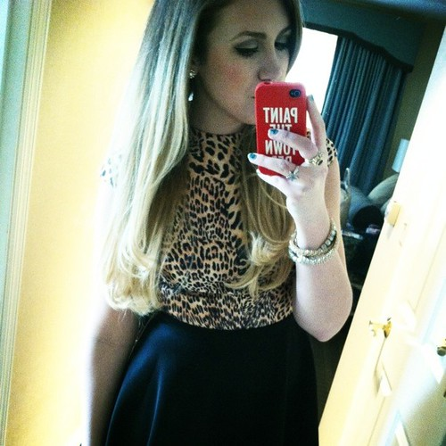 A little bit of leopard for the first #stlfw party! @alivemagstl