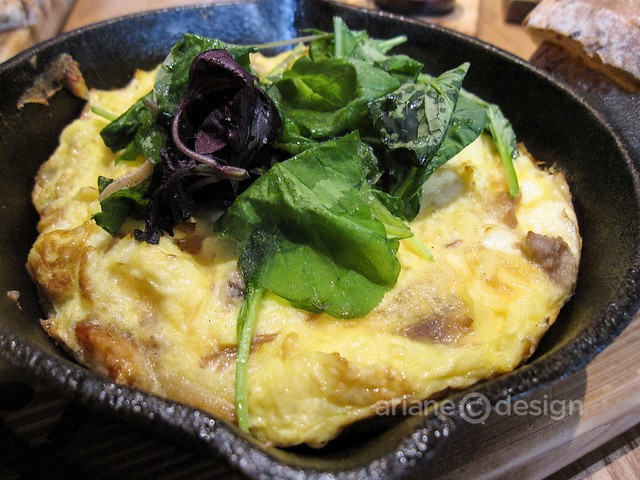 Brunch at forage/Alpine juniper duck confit frittata