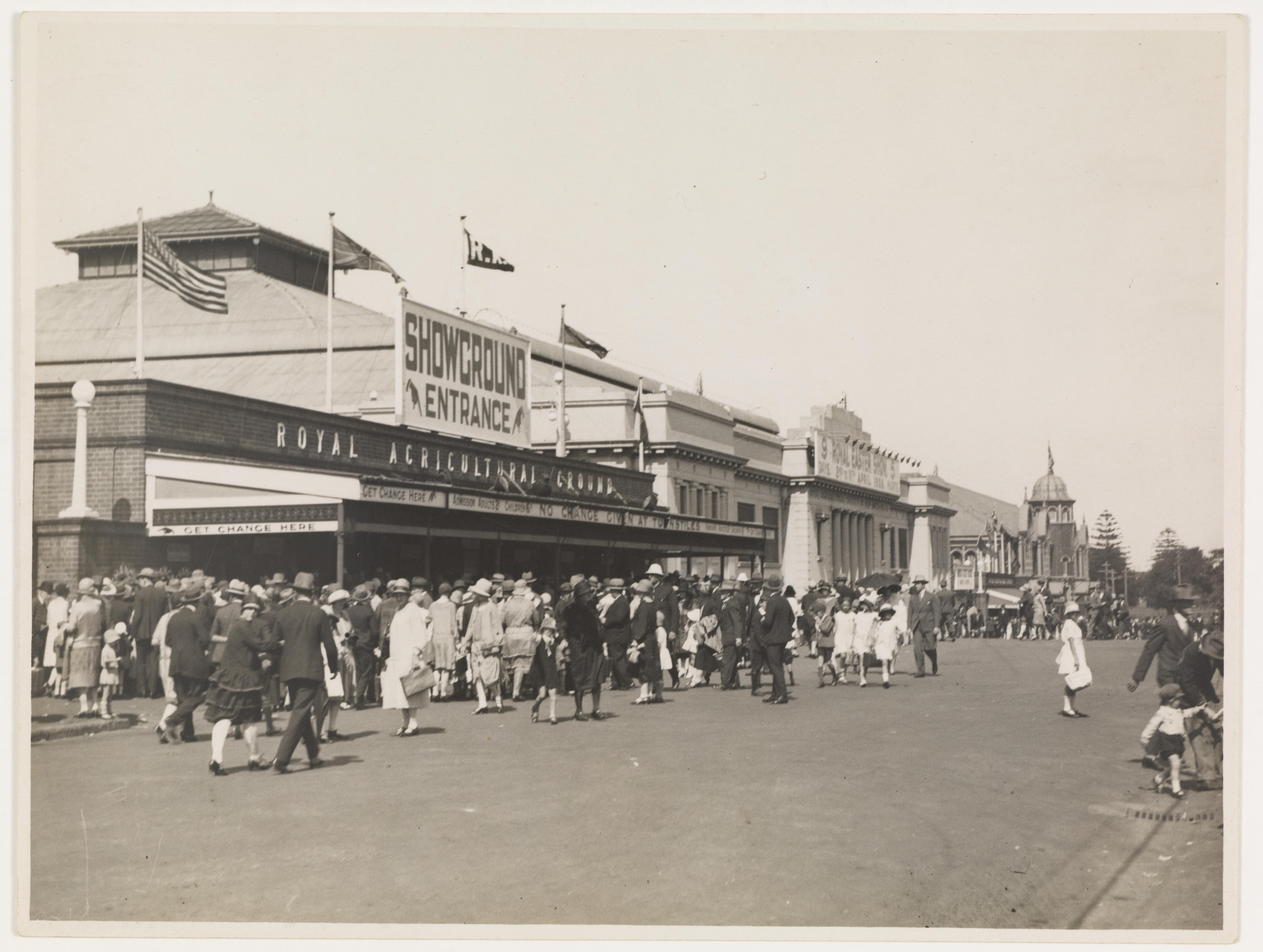 Views of the Showground, pavilions and crowds, c. 1930s by Sam Hood