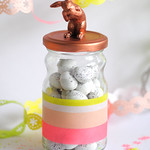 Copper bunny jar