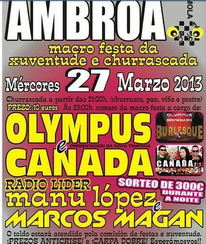 Irixoa 2013 - Festa da xuventude en Ambroa - cartel