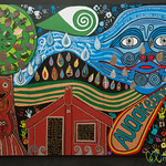 Hundertwasser Inspired Street Art - Kawakawa, New Zealand