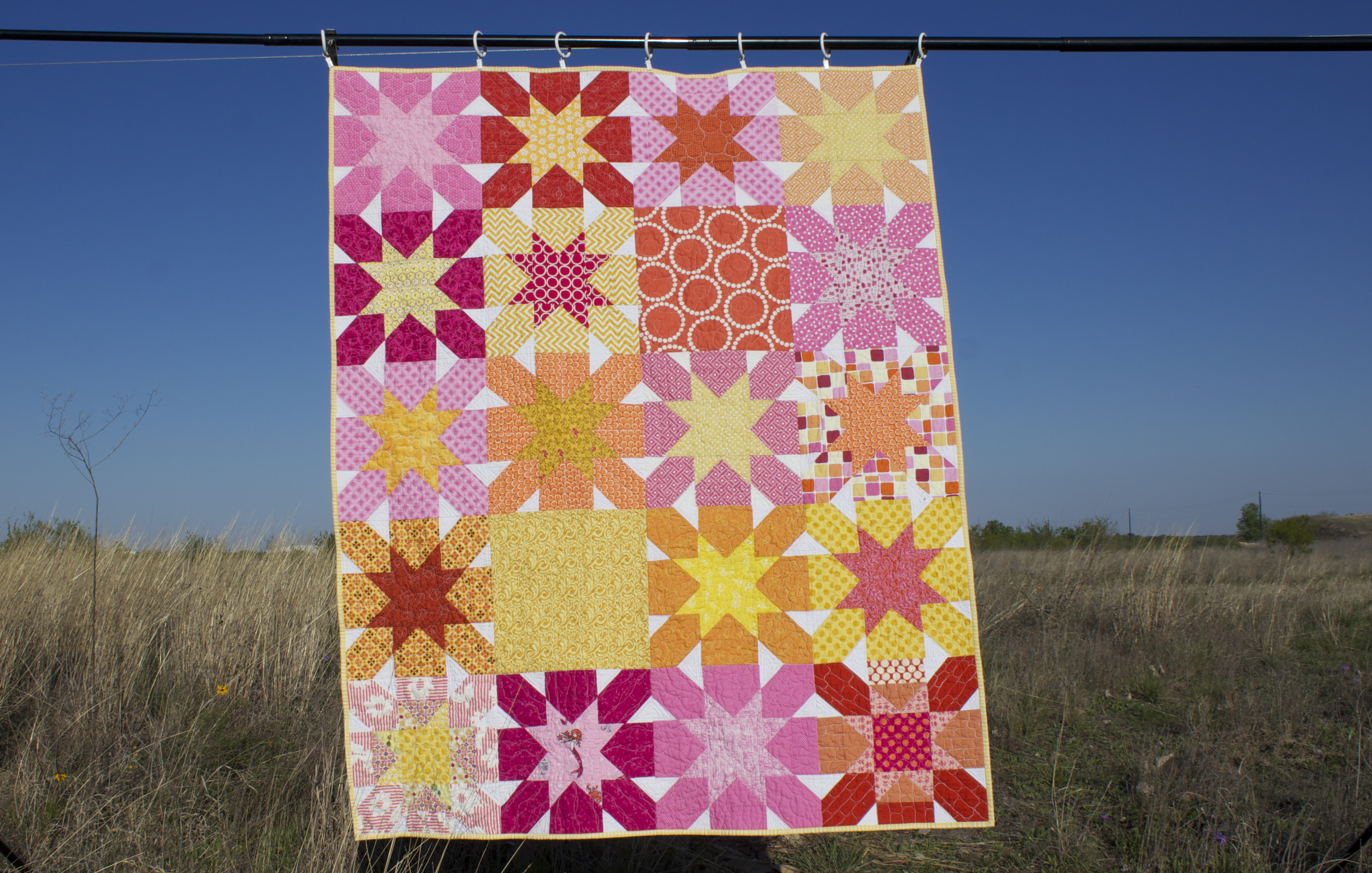 Cheer Circle of do. Good Stitches January 2013 Starburst Cross Quilt