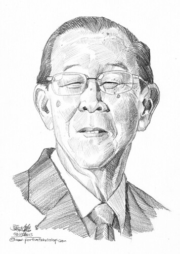 Pencil portrait for Chinese Swimming Club Tay Cheng Siong - 15
