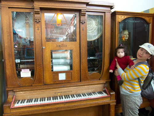 Scarlett and a Wurlitzer Piano