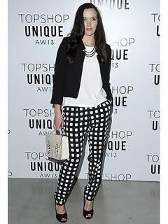 Victoria Pendelton Monochrome Trend Celebrity Style Women's Fashion