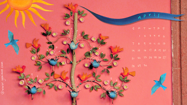 April desktop calendar 2013 blog