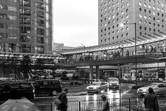 """中環雨天繁忙時間交通 Rush Hour Traffic in Central on a Rainy Day"" / 香港人流 Hong Kong Human Logistics / SML.20130326.7D.36557.BW"