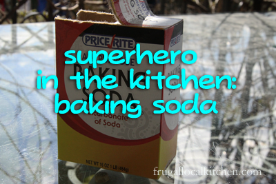 baking soda removes burned food