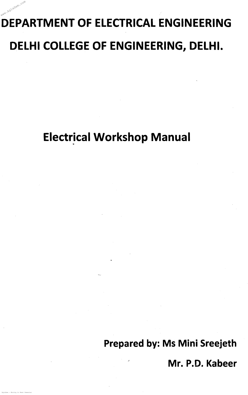 DTU Practical Files - 4 Sem - Electrical Workshop