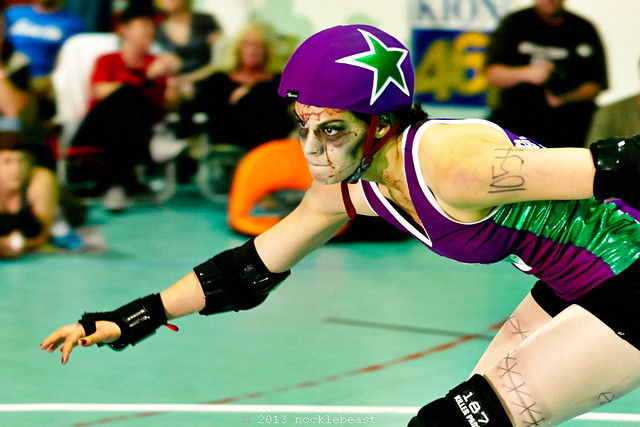 the life of a roller girl is always intense!