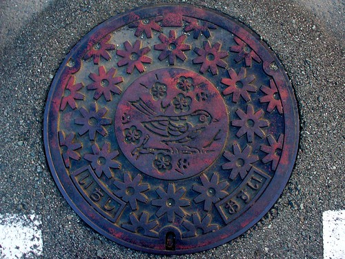 Ichishi town Mie pref, manhole cover (三重県一志町のマンホール)