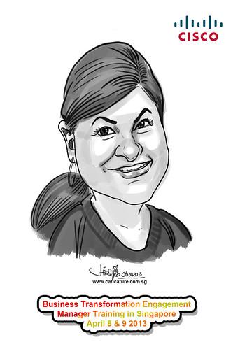 digital caricature for Cisco - 1
