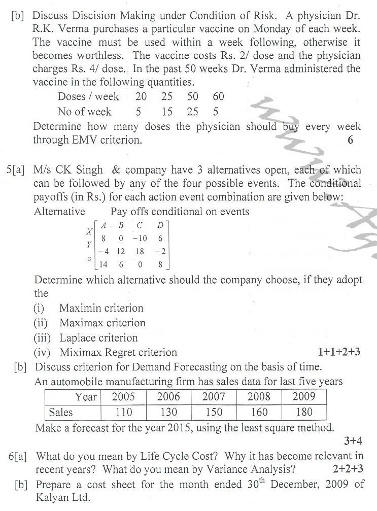 DTU Question Papers 2010 – 2 Semester - End Sem - ME-PE-111